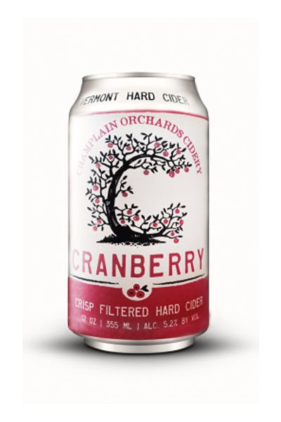 Champlain Orchard Vermont Cranberry Hard Cider