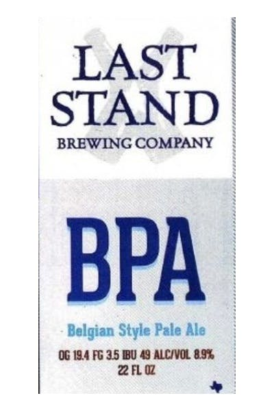 Last Stand Belgian Pale Ale