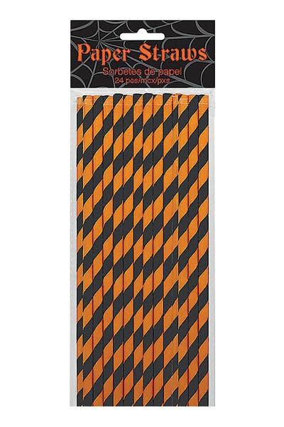 Straws   Black & Orange