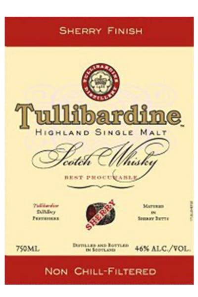Tullibardine Scotch Single Malt Sherry Finish