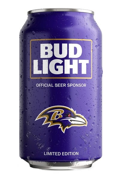 Bud Light Baltimore Ravens NFL Team Can