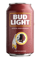 Bud Light Washington Redskins NFL Team Can