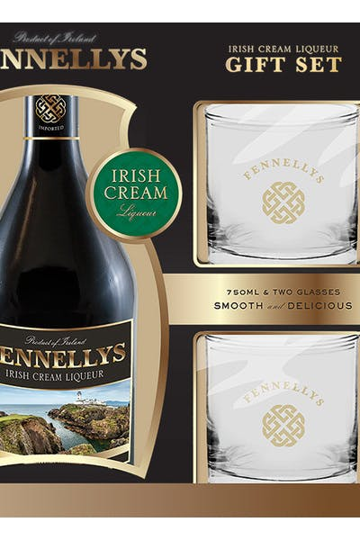 Fennellys Gift W/ Two Glasses