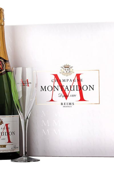 Montaudon Brut Gift With 2 Glasses
