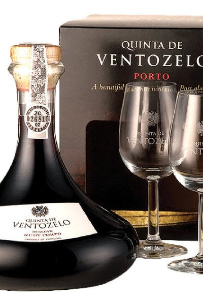 Quinta De Ventozelo Ruby Port Reserva Decanter 2 Glass Box